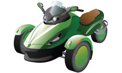 Scooter Tricycle green