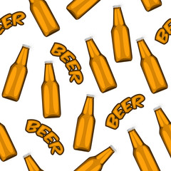 illustration of beer seamless pattern