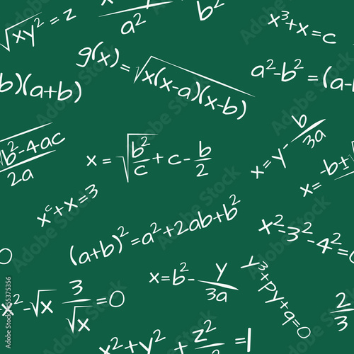 formula math seamless pattern