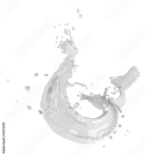 Milk splash isolated on white