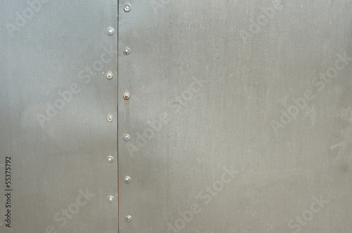 metal panel with rivets