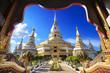 Phra Maha Chedi Chai Mongkol at Roi Et Province, Thailand
