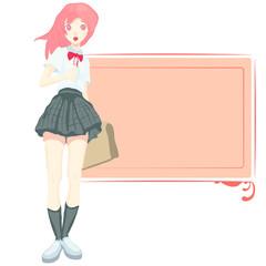 Stock schoolgirl goes to school