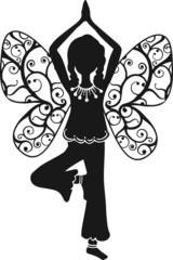 Yoga Mädchen, Asana, Schmetterling