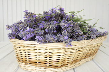 Basket with lavender