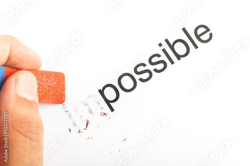Word impossible changed into possible