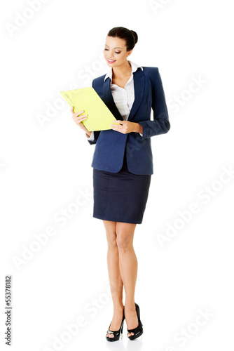 Portrait of happy businesswoman