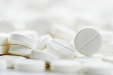 white round medicine tablet antibiotic pills
