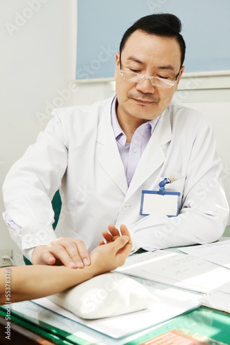 Chinese asian male doctor