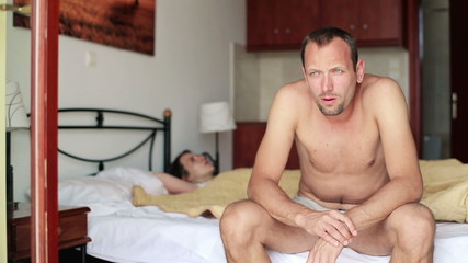 Couple having problems in bed