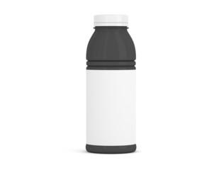 Flasche mittel schwarz mit Etikett