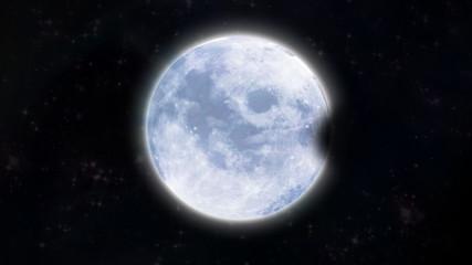 eclipse moon at dark space