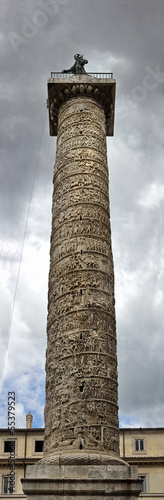 The column of Emperor Trajan in Rome - Panorama