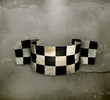 Checkered flag, old style