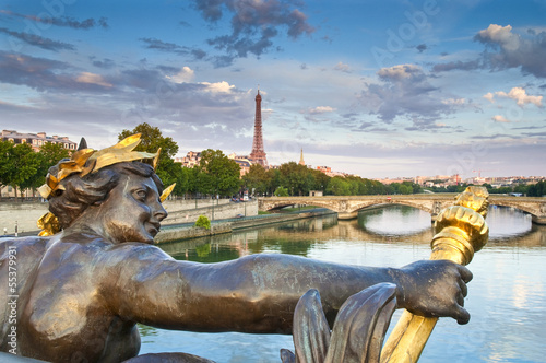 Pont Alexandre III & Eiffel Tower, Paris