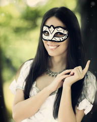 Girl with Carnival Mask