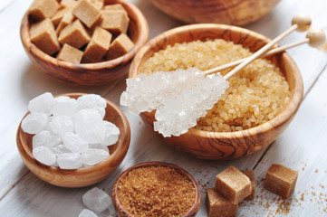 different kinds of sugar