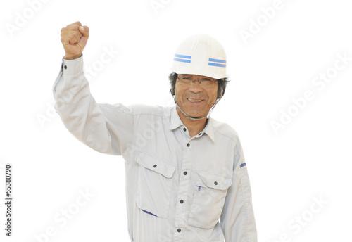 笑顔の男性作業員