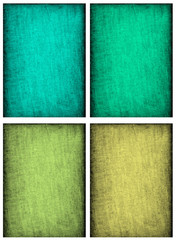 Collage of textured backgrounds in soft blue, yellow, teal and g