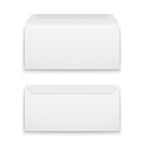 Blank envelopes on white background.