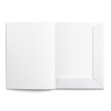 White empty open folder.