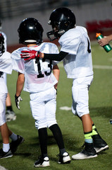 Young american football teammates