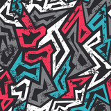colored graffiti seamless pattern with grunge effect