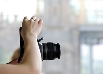 камера, объектив,  крупный, план