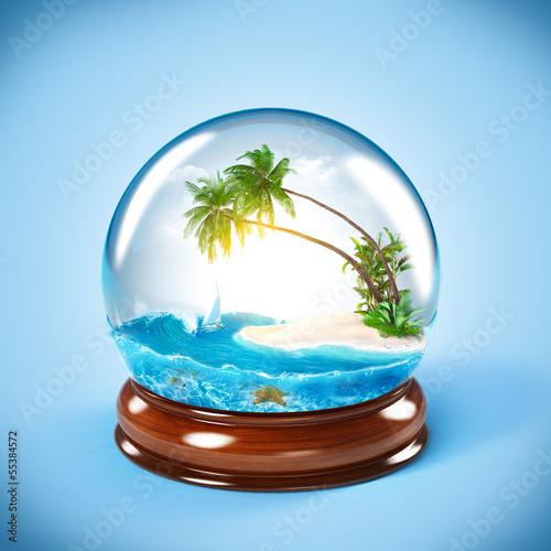 Poster Oceanië glass globe
