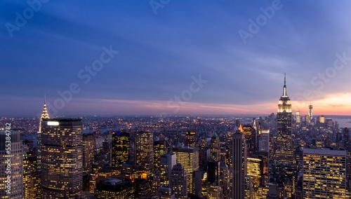 Foto op Plexiglas New York New York skyline