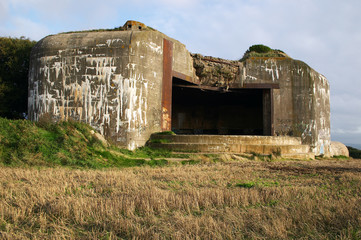 German bunker with graffittis