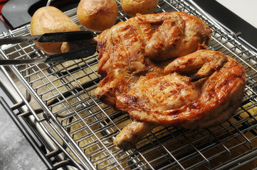 pollo alal griglia con patate