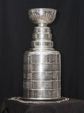 Stanley Cup trophy with black background