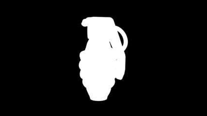 Loop rotating grenade. Alpha matted