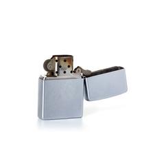 Silver metal zippo lighter