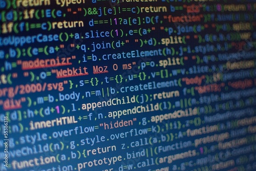Leinwandbild Motiv Sourcecode