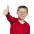 boy with thumb up