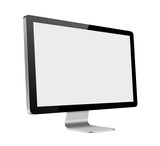 LCD Computer Monitor with blank screen on white background
