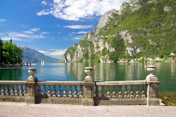 Riva del Garda, Gardasee, Promenade, Segelboote, Italien