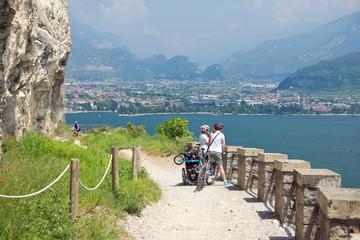 Wandern, Mountainbike, Ponalestraße, Riva, Gardasee, Italien