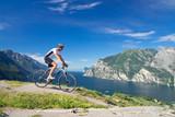 Fototapety Mann, Mountainbike, Fahrrad, Monte Brione, Riva, Gardasee