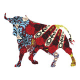Fotoroleta bull in a Spanish ornament