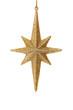 Close up of golden glitter star