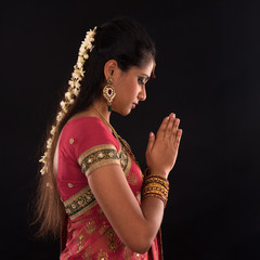 Indian woman prayer