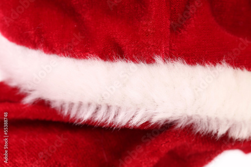 Close up of fragment clothes Santa Claus.