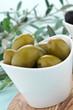 Olive verdi, fuoco selettivo