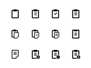 Clipboard icons on white background.