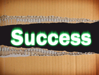 "Abstraction with the inscription ""Success"""