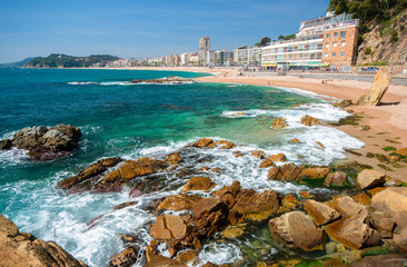 View of LLoret de Mar.Catalonia.Spain
