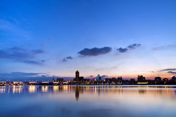 Taipei city in twilight